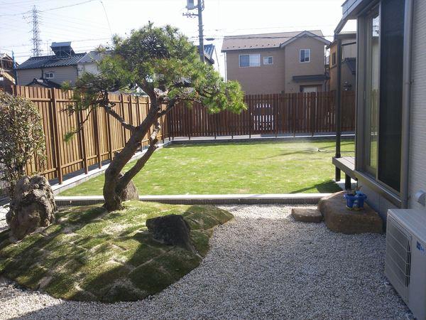 サッカーが庭でできる家のサムネイル